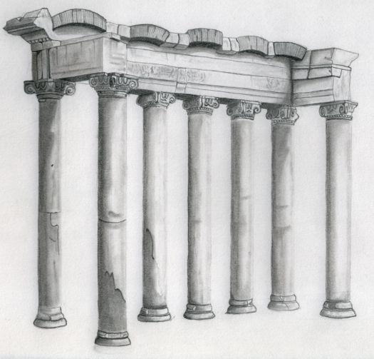 Dibujando en el foro de Roma