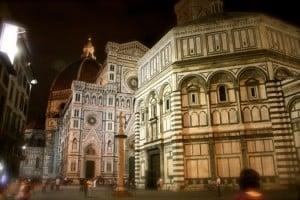 catedral florencia en la noche