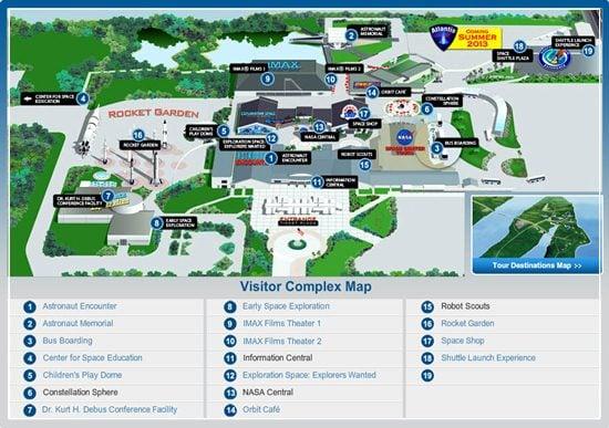 mapa kennedy space center en cabo cañaveral