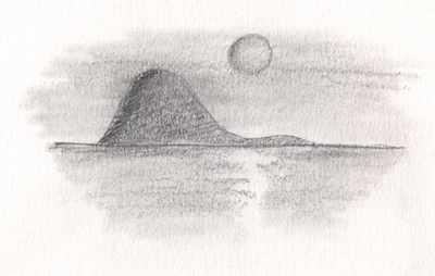 dibujo perfil isla guadalupe