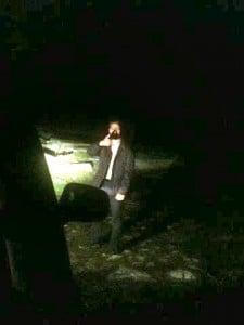 explorando el camino en la noche de gredos