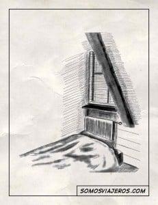 dibujo de una cama