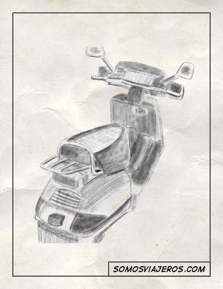 Dibujo A Lápiz De Una Moto Somos Viajeros
