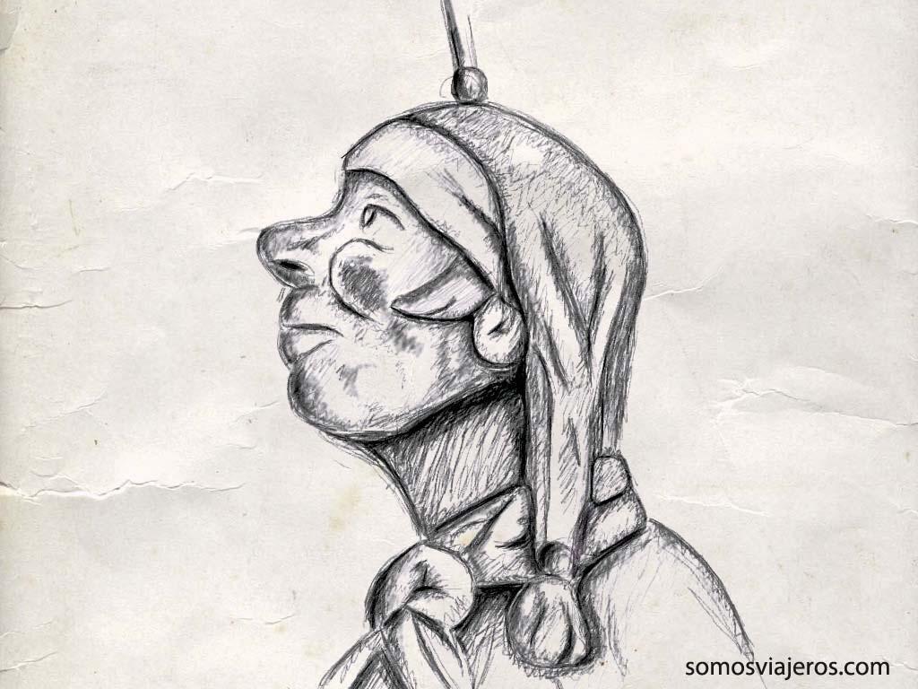 Dibujando el personaje más célebre de Lieja