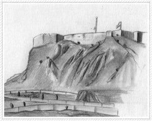 dibujo castillo de alicante