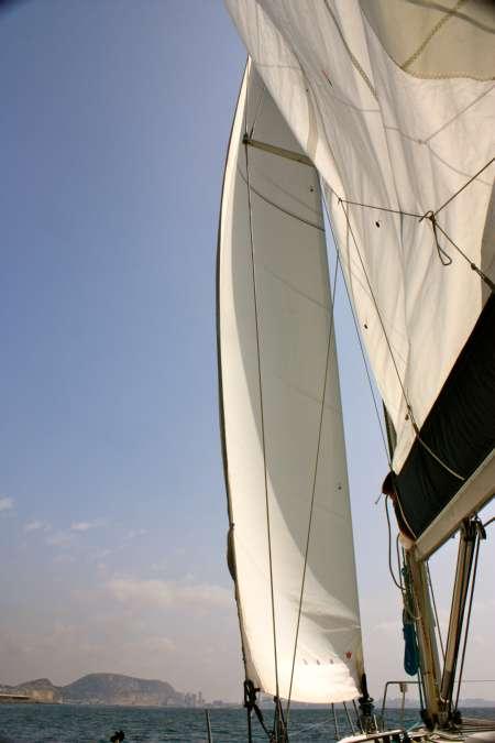 velero navegando en alicante