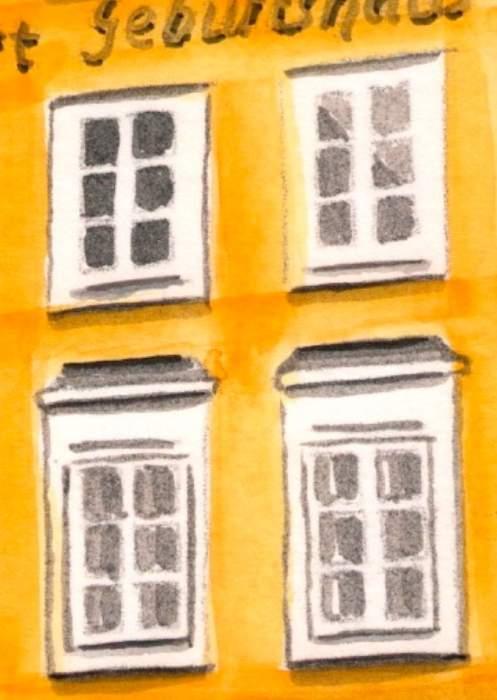 ventanas casa de mozart y fachada