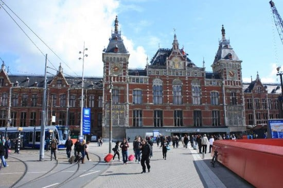 Central station en Amsterdam