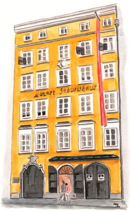 casa de mozart en Salzburgo, Austria