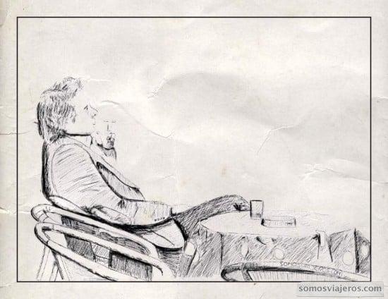 dibujo sobre iPad de una terraza en Spa