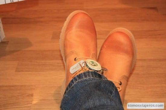 estrenando botas panama jack