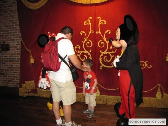 Fotografiarse con Mickey era uno de los objetivos...