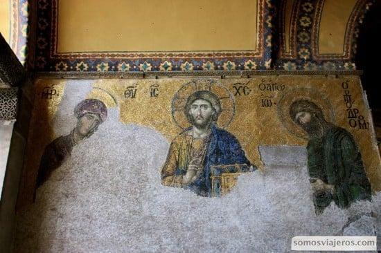 el arte de la tesela en mosaicos de santa sofia en estambul