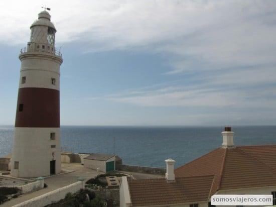 Vista hacia África desde la parte Sur de Gibraltar