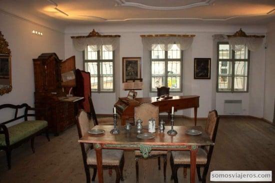Casa de Mozart en su interior