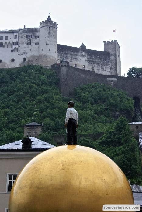 Vista de la fortaleza desde Salzburgo