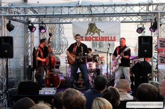 concierto rock en calles Salzburgo