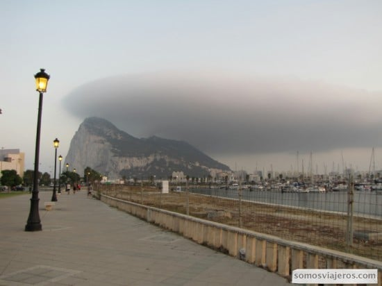 Nubarrón permanente del Peñón de Gibraltar