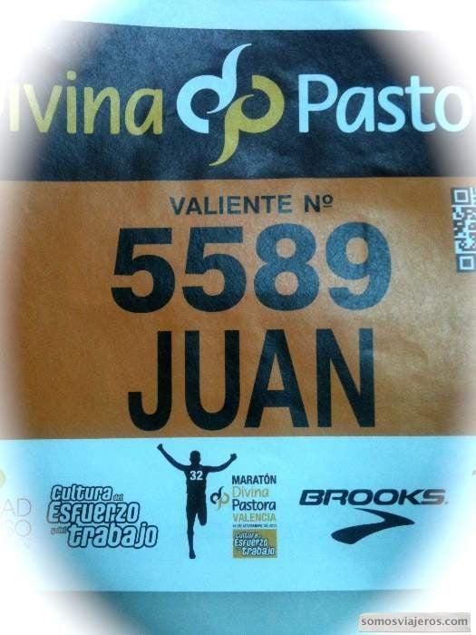 dorsal maratón de valencia
