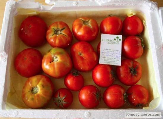 tomates recibidos de Huerto Gourmet
