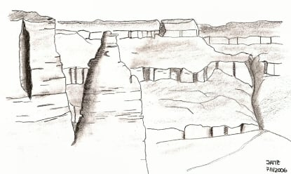 Dibujando en Gran Cañón