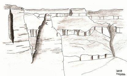 Dibujando En Gran Cañón Somos Viajeros