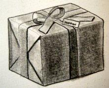 dibujo de un regalo
