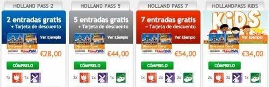 tipos de holland pass