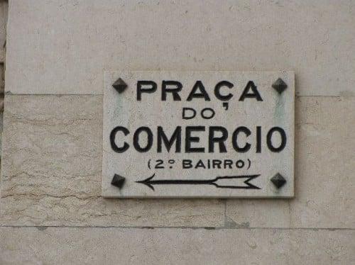 Praça do comercio de Lisboa