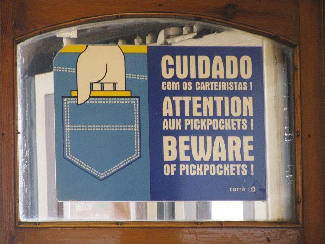 Cuidado con los chorizos en Lisboa