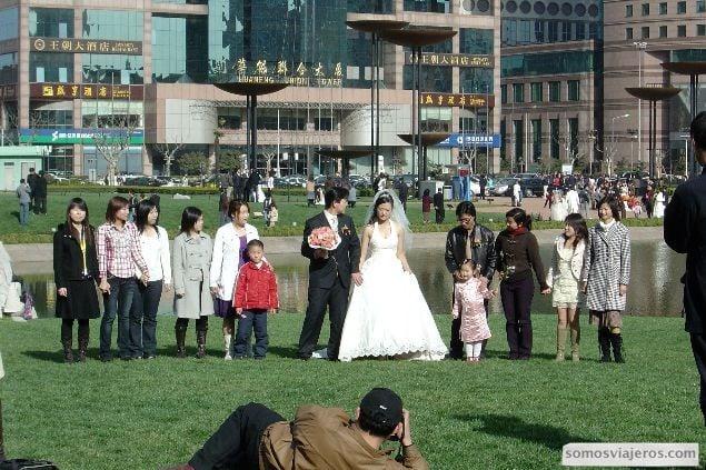 foto de familia en boda china