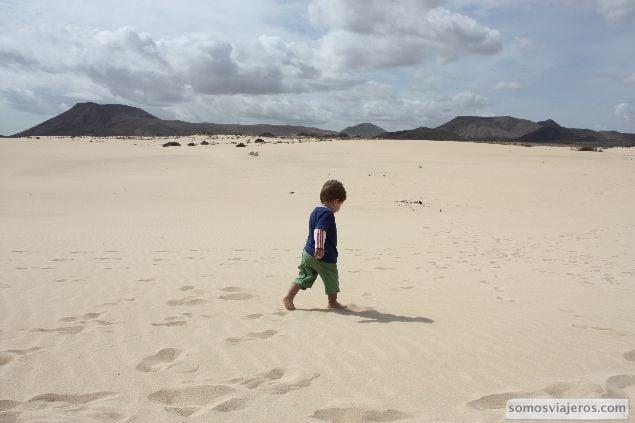 David en la arena de fuerteventura dunas corralejo