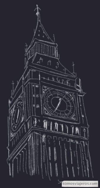 Dibujo del Big Ben
