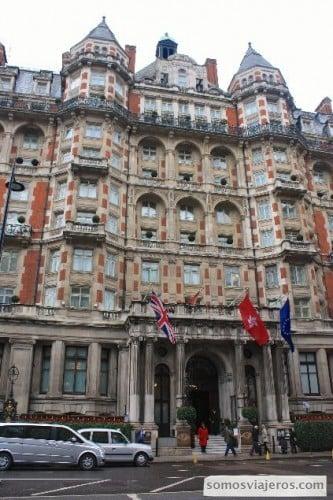 Hotel mandarin oriental en Londres al lado de Hyde Park