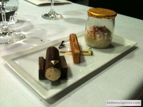 Primer plato restaurante Caelis
