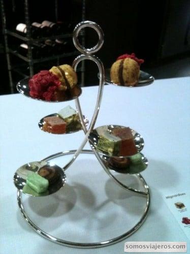 Mignardises restaurante Caelis Barcelona, romain Fornell