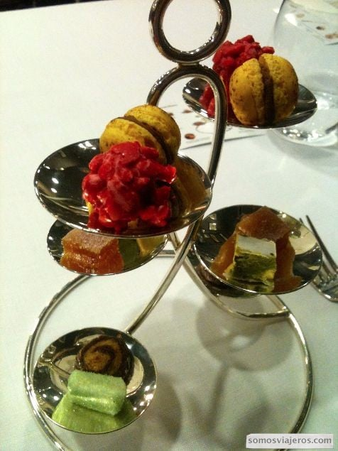 mignardises restaurante caelis hotel palace barcelona romain fornell