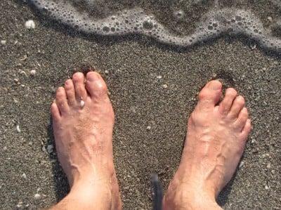 Típica arena de las playas de Florida a base de conchas