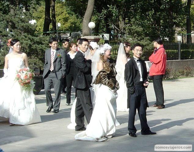 novios chinos en shanghai