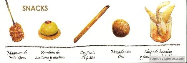 carta de snacks