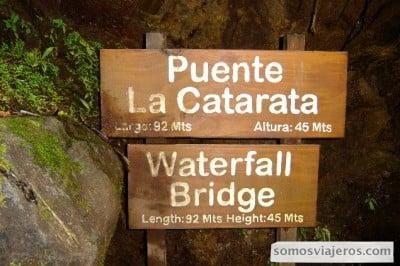puente la catarata en costa rica arenal