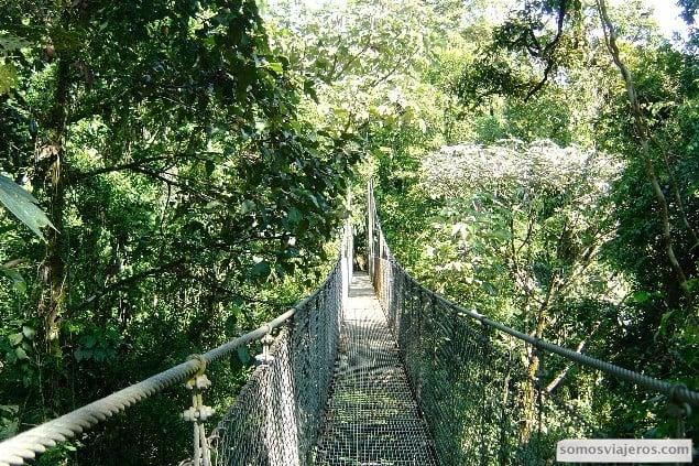 puentes colgantes en Arenal costa rica