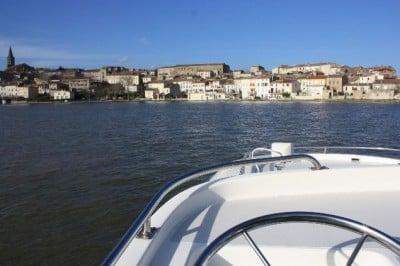 Navegando por el canal Midi en Francia