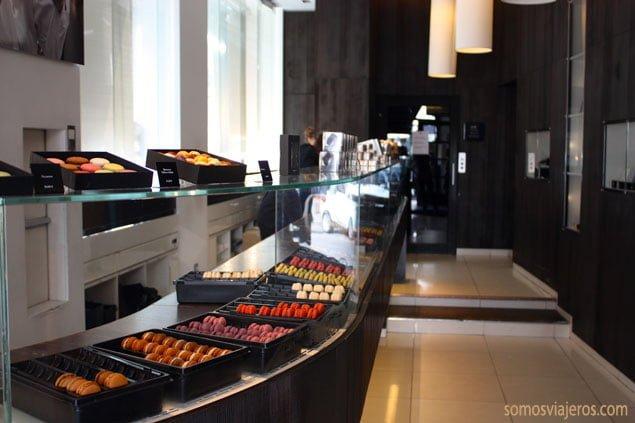 interior tienda marcolini Bruselas