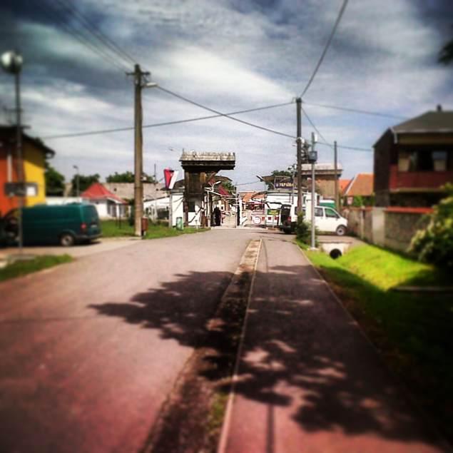 vista frontera Eslovaquia-Ukrania. Lado Eslovaco