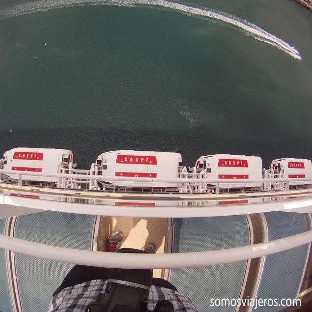 vista desde la cubierta superior del EPIC Norwegian