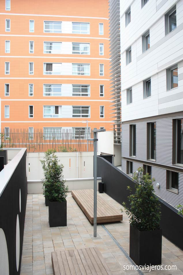 vista zonas comunes Melon District Barcelona
