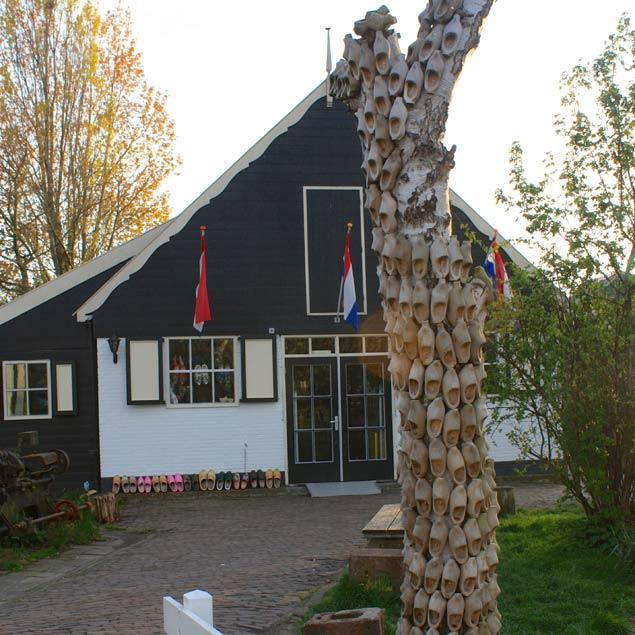 casa de zuecos en Marken en Holanda