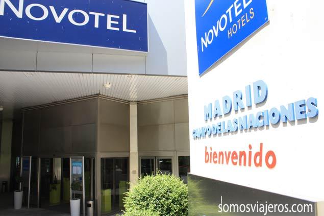 Entrada Novotel Campo de las Naciones