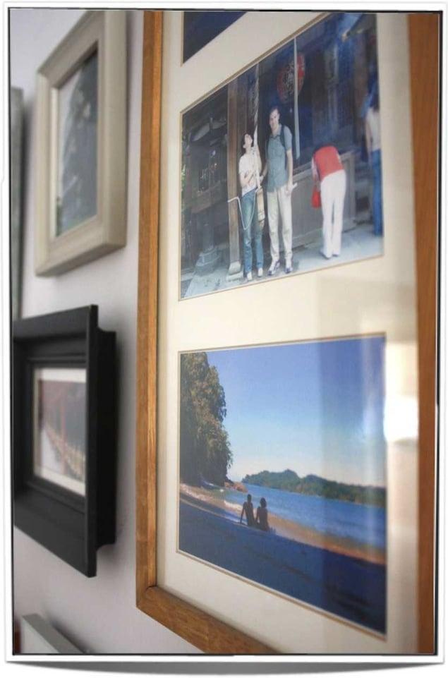 fotos viajeras en las paredes de casa